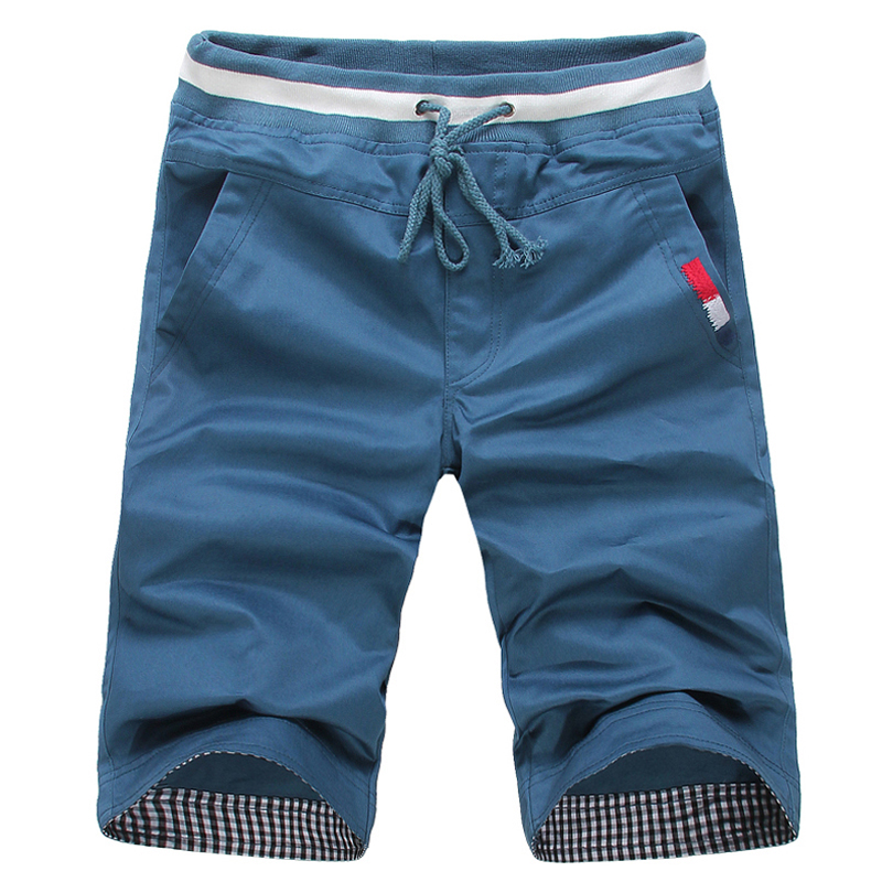 Summer Casual Shorts Men Plaid Hem Cotton Short Pants Fashion Streetwear Shorts Bermuda Homme Short Pantalon Court Plus Size Men