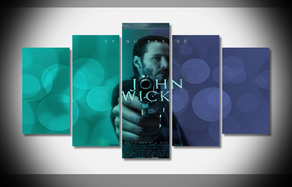 5261 Keanu Reeves In John Wick Movie PosterFramed Gallery wrap art print home wall decor wall picture Already to hang