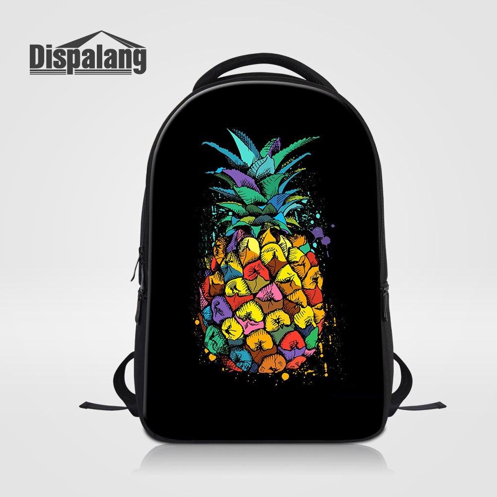 Dispalang 14 pouces sac à dos pour ordinateur portable pour les femmes Unique fruits ananas sacs d'école sac à dos pour les adolescentes femmes sacs à dos Rugtas