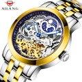 AILANG Эксклюзивные оригинальные дизайнерские мужские прозрачные механические часы качественные часы водонепроницаемые часы из нержавеющей...