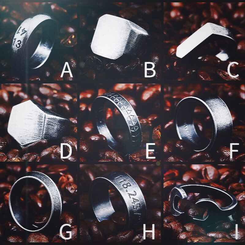 Beier 316L Stainless Steel high polish kinds of geometric shapes Antique silver colour fashion jewelry for men and women ring in Rings from Jewelry Accessories