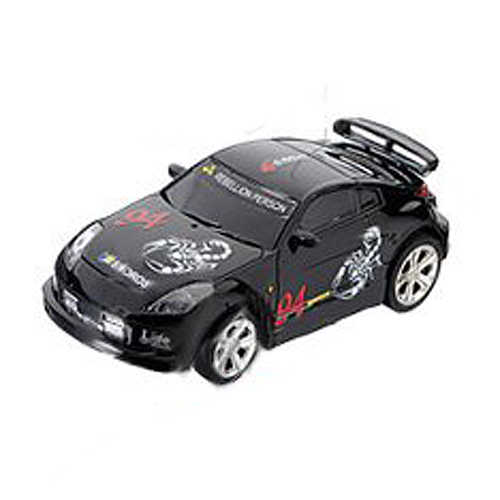 Mini Rc Remote Controlled Auto Racing Car Speelgoed In De Drank Kan 1:58 (zwart) Nieuwe