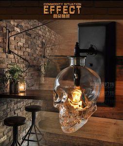 Image 4 - Лофт скандинавский промышленный дизайнер ретро стеклянная бутылка в форме черепа настенная лампа коридор лампа