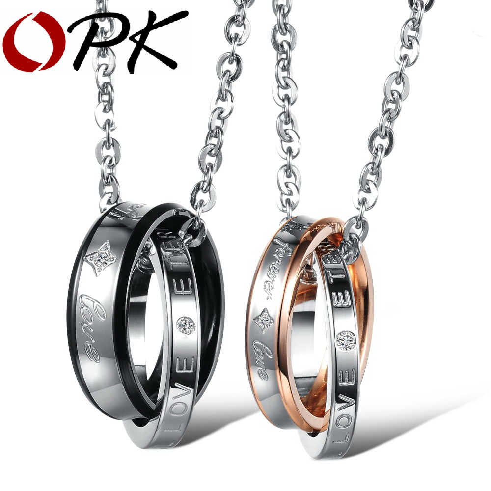 Fashion Jewelry Stainless Steel Lover/'s Promise Couple/'s Fashion Necklace