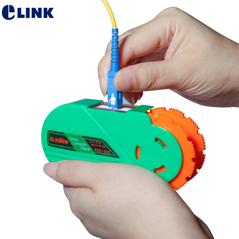 1pcs Fibre Optical Cleaner Cassette Tape For Connector End Face 500+ Times Life Time Free Shipping ELINK Cleaning Box Scrubber