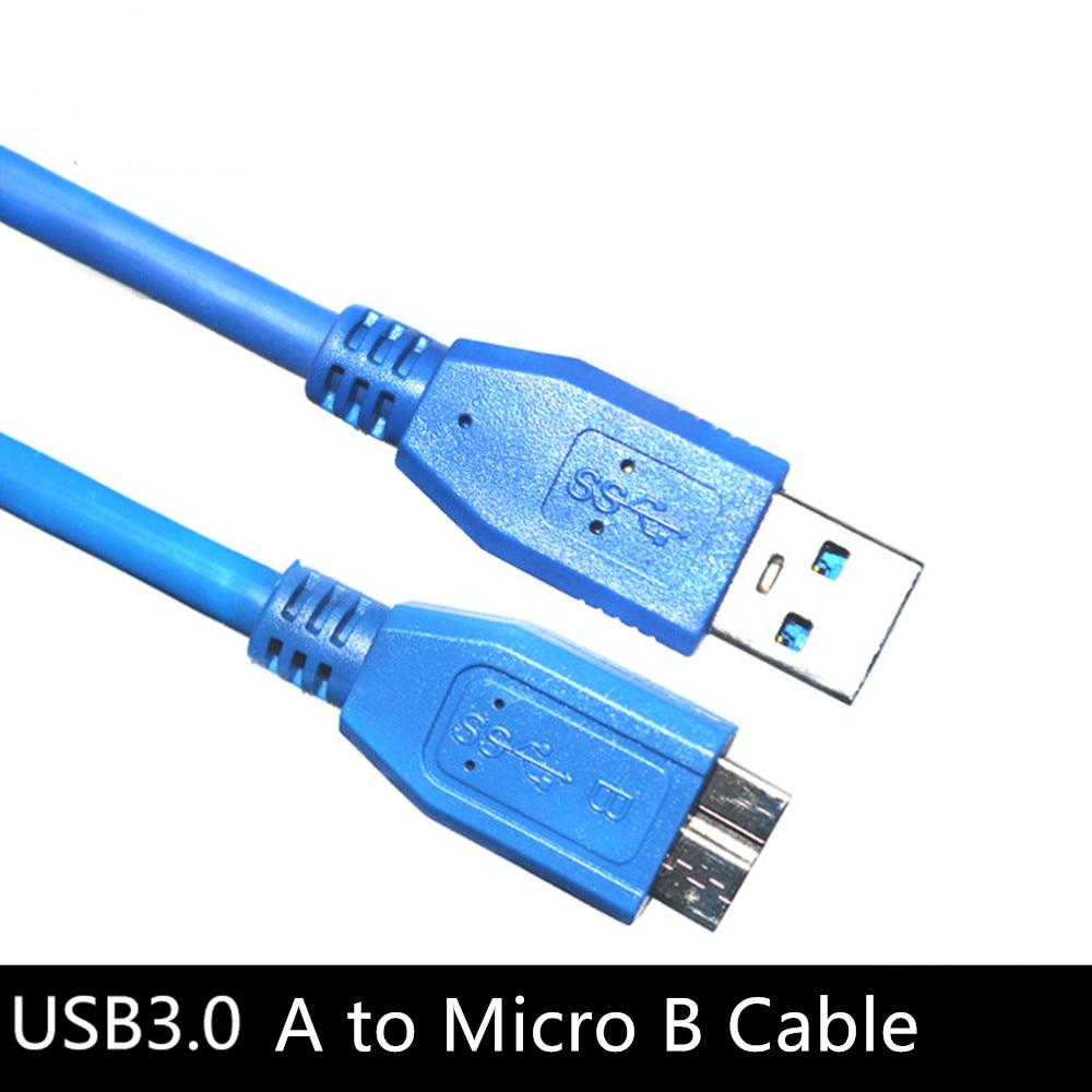 Fast Speed USB 3.0 Tipo A para Micro B Data Sync Cord Cabo USB3.0 para Unidade de Disco Rígido HDD Externo samsung S5 Note3 NOVO