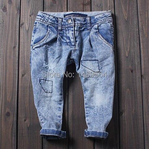Мальчики джинсы моющийся белый старые брюки дети пепе джинсы дети в одежда ретро свободного покроя tigor kd 7 калько джинсы masculina