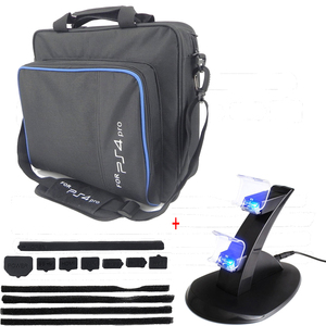 PS4 Pro Accessories Play Station 4 Pro Console Storage Bag Joystick PS4 Controller Charger Stand Dust Proof for PlayStation Pro