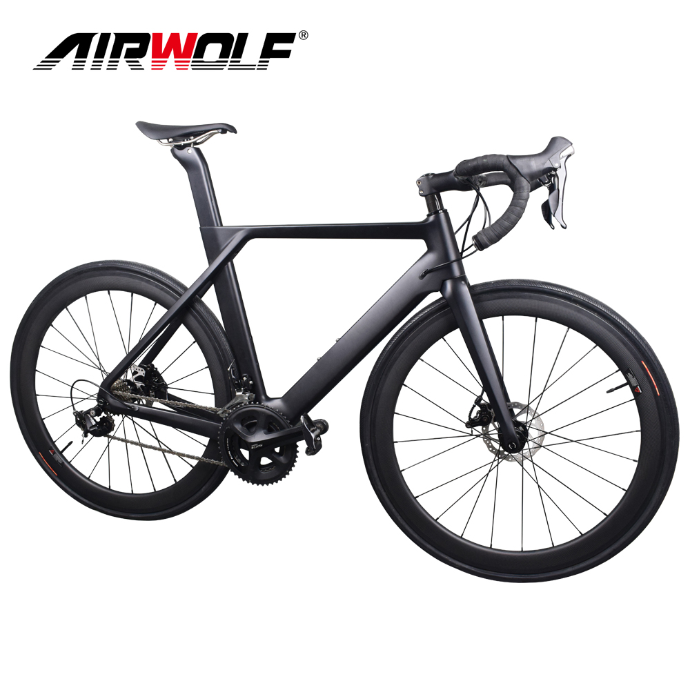 2019 Disc Carbon Road Bike Complete Bicycle Carbon With SH1MANO 4700/R7000/R8000/R9100, 22 Speed Carbon Bike(China)