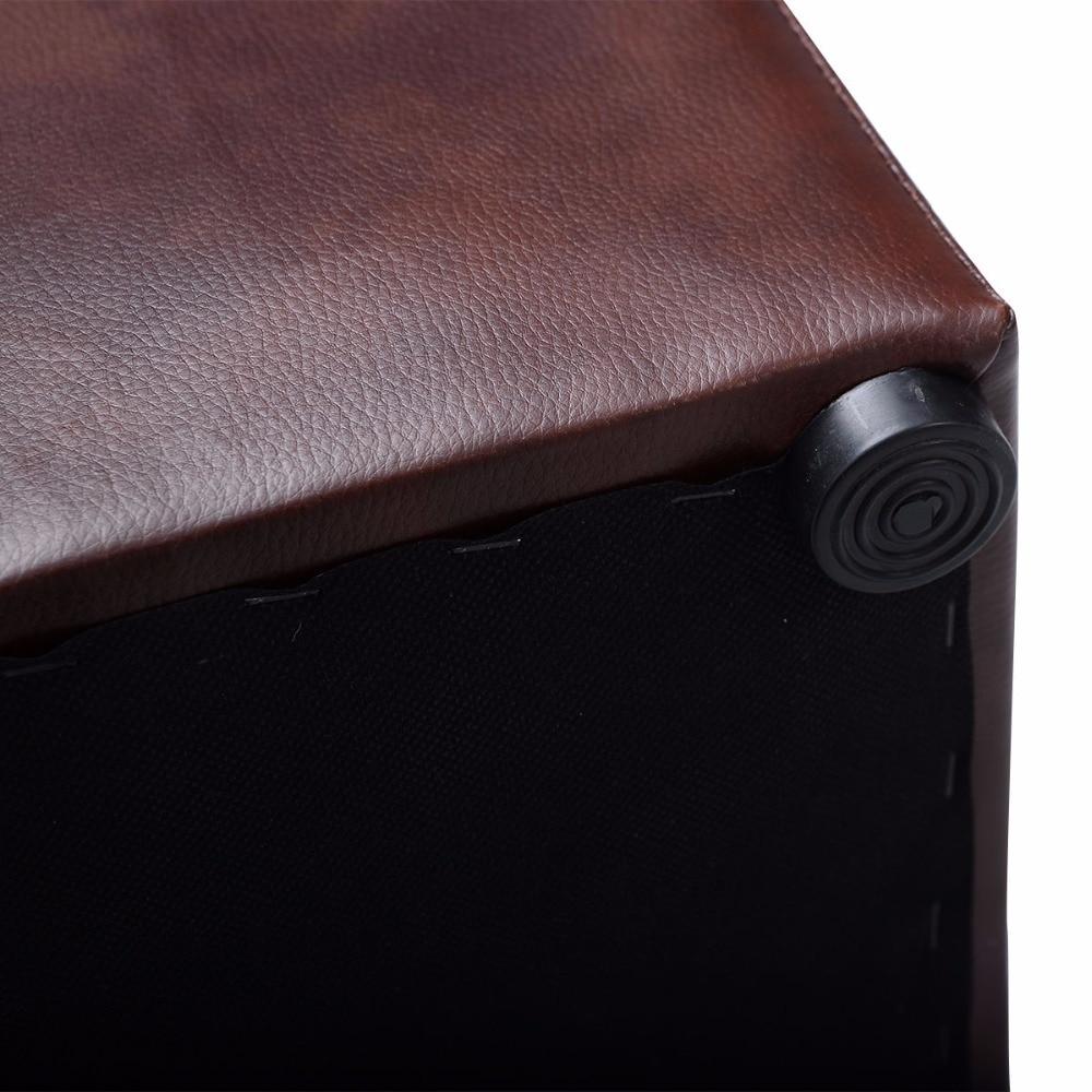 Giantex cubo otomana PUF almacenamiento salón asiento reposapiés con ...