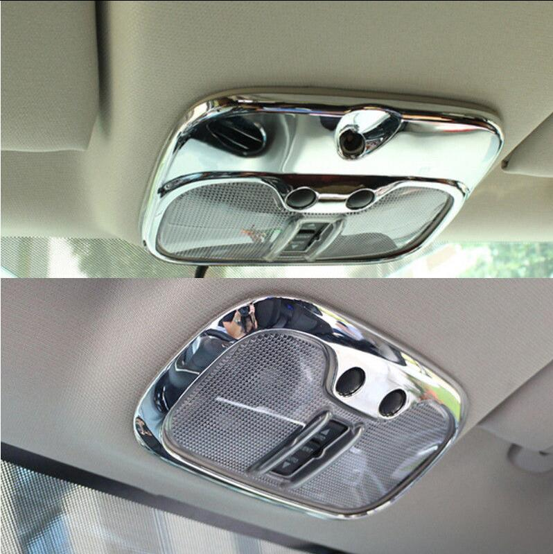 Chromed ABS Plastic Interior 2 TYPES Front Reading Light Cover Trim For <font><b>Jeep</b></font> <font><b>Compass</b></font> 2011 2012 2013 <font><b>2014</b></font> 2015 image