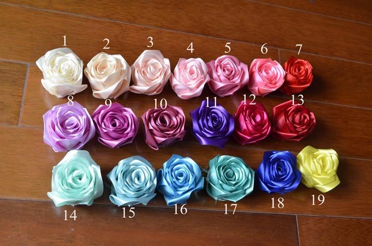 Қолмен жасалған Silk Satin Роза гүлі 3 - Үйлену керек-жарақтары - фото 5