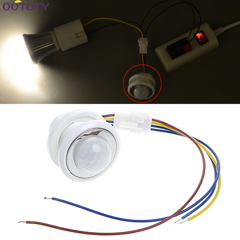 40mm LED PIR Détecteur Infrarouge Ray Motion Sensor Commutateur temps retard réglable mode détecteur de commutation
