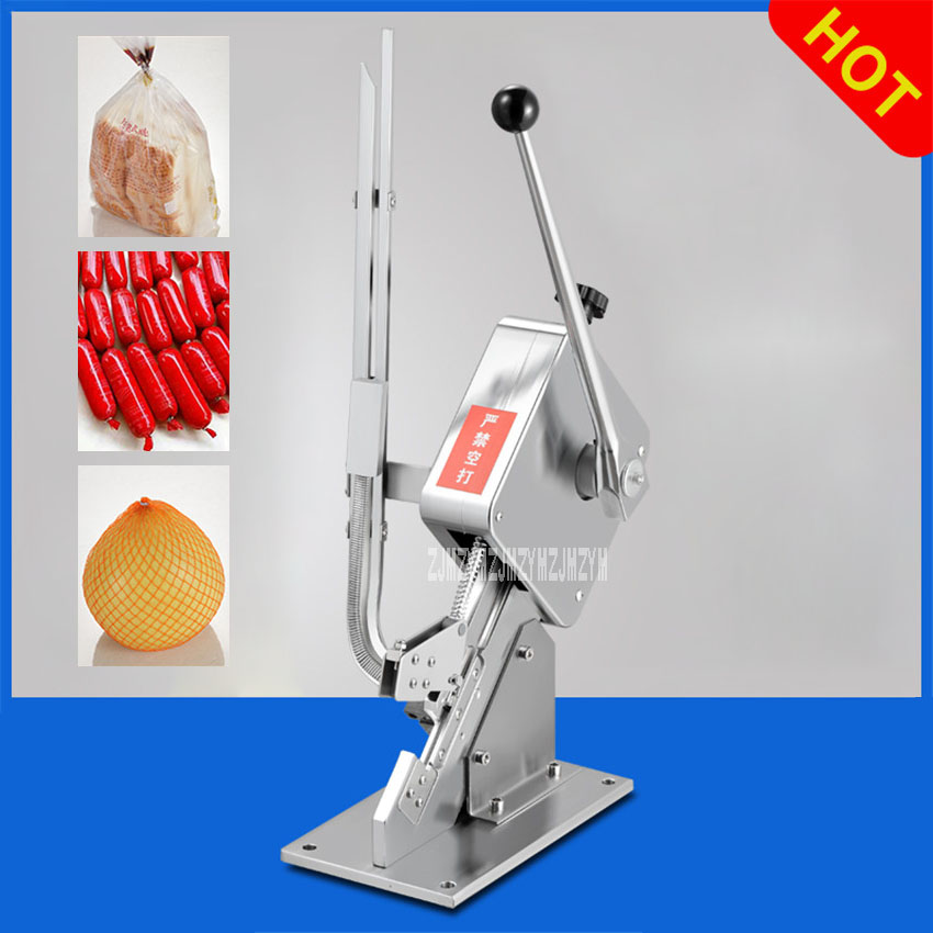 GU-50 Ham Sausage Dotter Manual Tying Packer Sausage Clipper U-Shape Supermarket Bags Packing Machine Food Sealing Machine