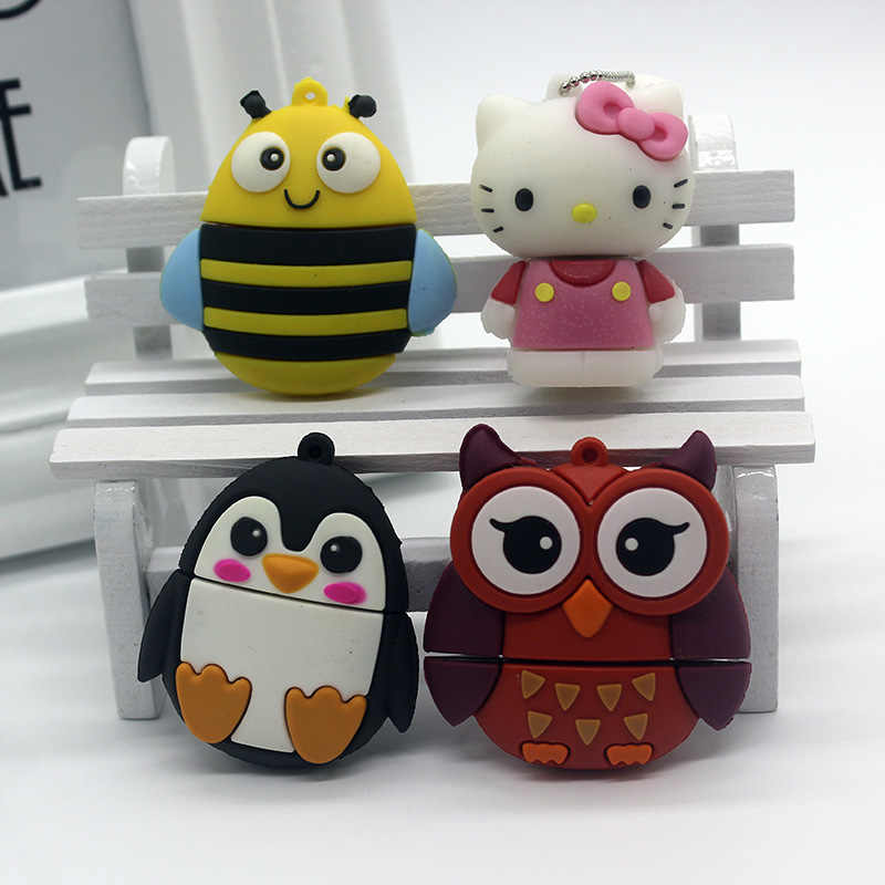 Dos desenhos animados Olá Kitty Pendrive de 128 GB USB Flash Drive 128 GB GB GB 8 16 64GB Criativo Pen drive clef 32GB Memoria USB Memory Stick