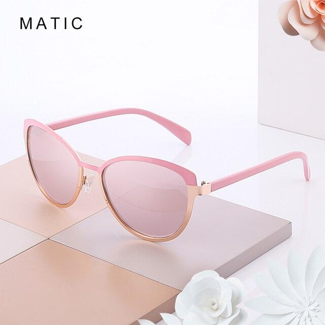 Женские винтажные очки авиаторы MATIC, розовые солнцезащитные очки в стиле ретро с градиентом для вождения, для макияжа, кошачий глаз