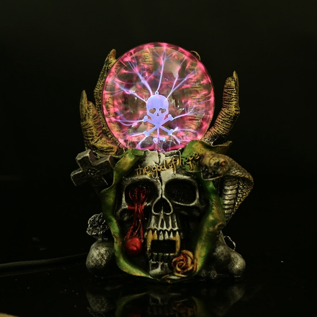 Creative Skeleton Halloween Decoration Resin Magic Lamp Classy Halloween Crystal Ball Decoration
