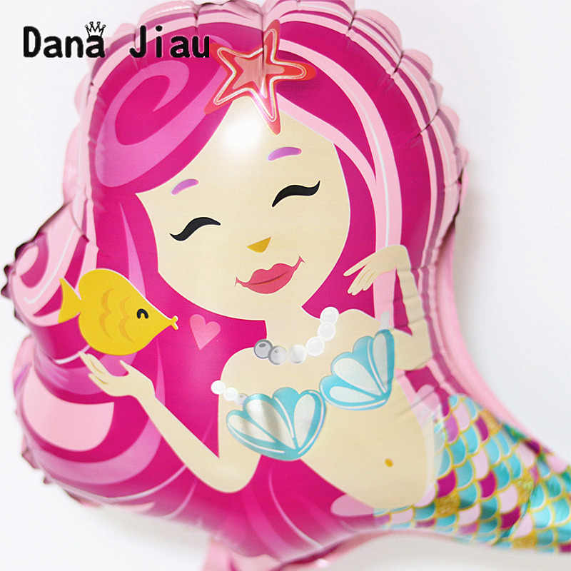 Mini Sereia dos desenhos animados Tema Balão Foil Birthday party Balloons Decorações Do Casamento Baby shower Suprimentos bola de Atividade Do Mercado