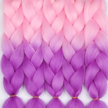 MERISIHAIR, 24 дюйма, Омбре, синтетические, вязанные волосы для наращивания, огромные косички, прически, розовый, блонд, красный, синий, плетение волос