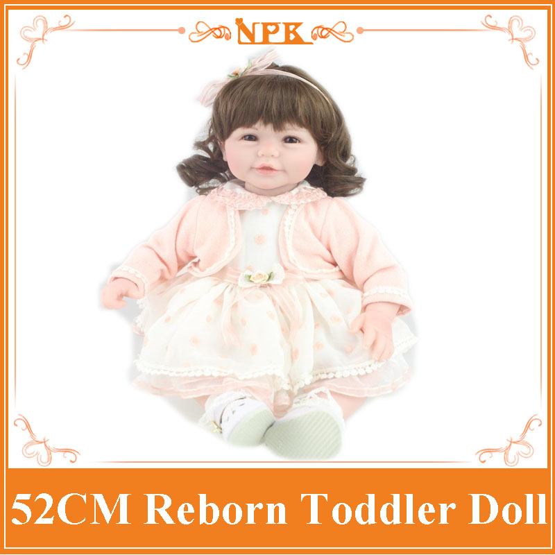 Short Curl Hair Lifelike Reborn Toddler Dolls With 20inch Baby Doll Clothes Hot Welcome Lifelike Baby Dolls For Children As Gift short curl hair lifelike reborn toddler dolls with 20inch baby doll clothes hot welcome lifelike baby dolls for children as gift