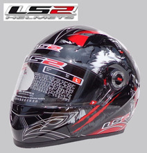 Free shipping high-grade genuine original LS2 FF358 motorcycle helmet safety helmet full helmet Racing / Red Wolf Totem