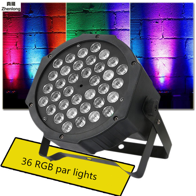 RGB Stage Led 36 LEDS PAR Light Disco DJ Lighting Club Party Light Strobe AC110-220V EU US Plug Wedding Show Bar KTV Lighting led par lamp 54w rgb led stage par light wash dimming strobe lighting effect lights for disco dj party show us plug eu plug