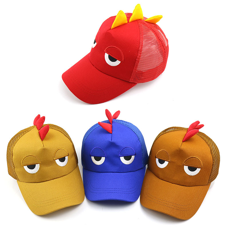 2019 Baby Boy And Girl Hats Cartoon Little Dinosaur Baseball Caps Summer New Children's Breathable Net Hat Outdoor Kids Sun Hat