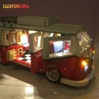 LIGHTAILING LED Light Kit For T1 Camper Van Building Blocks Toys Light Set Compatible With 10220