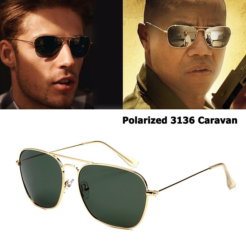 bc07b3414 JackJad Estilo Clássico 3136 CARAVANA Polarizada Quadrado Aviação Óculos De  Sol Dos Homens Do Vintage Retro de Design Da Marca Óculos de Sol Oculos de  sol
