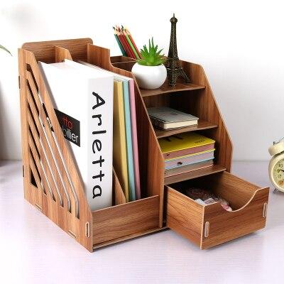 Home Office Storage Box Table Accessories Desk Organizer Book Shelf Magazine rack