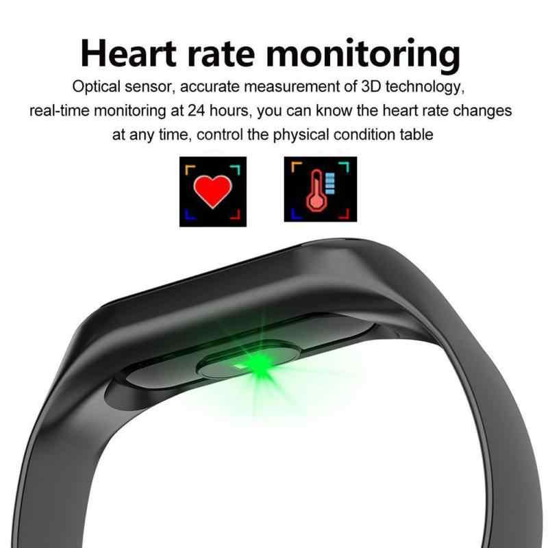 M3 להחלפה רצועת כושר גשש חכם צמיד חכם צמיד קצב לב צג לחץ דם להקת עבור כל טלפונים חכמים