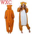 Anime Rilakkuma Urso Pijamas Cosplay Unisex Adulto Onesies Pijamas Romper Para O Carnaval de Halloween Do Partido Do Disfarce WXC