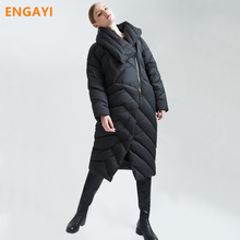 ENGAYI Brand Women Winter Coat Jackect 90% White Duck Thick Warm X-Long Down Female Wide-waisted Coat Jacket Outcoat EF2288