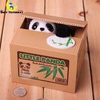 Panda bonito Caixa de Poupar Dinheiro Banco Bonito Dos Desenhos Animados Panda Automatizado Roubar Banco de Moeda Piggy Eletrônico Spaarpot Acancias C00104