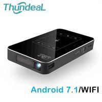ThundeaL DLP проектор T18 Wi Fi Android 7,1 Bluetooth Пико Карманный HDMI Поддержка 4k 1080P мини 16 г 32 г мини проектор дополнительно T17