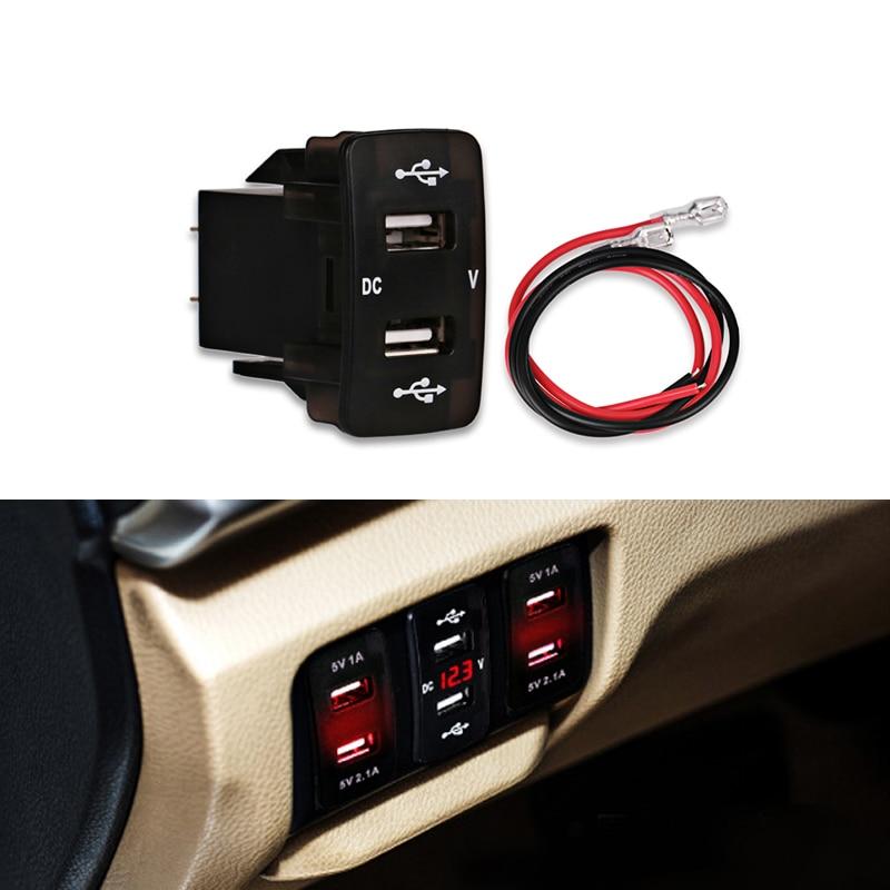5v 2.1A 12v Car USB Cigarette Lighter Socket Charging Dual U