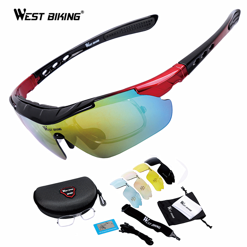 WEST BIKING Cycling Glasses Sport Bicycle Bike Unisex Sun Glasses Outdoor Eyewear Running Cycling Fishing Driving Bike Glasses west biking bicycle riding glasses polarized glasses mountain bike outdoor sports equipment prescription windproof glasses