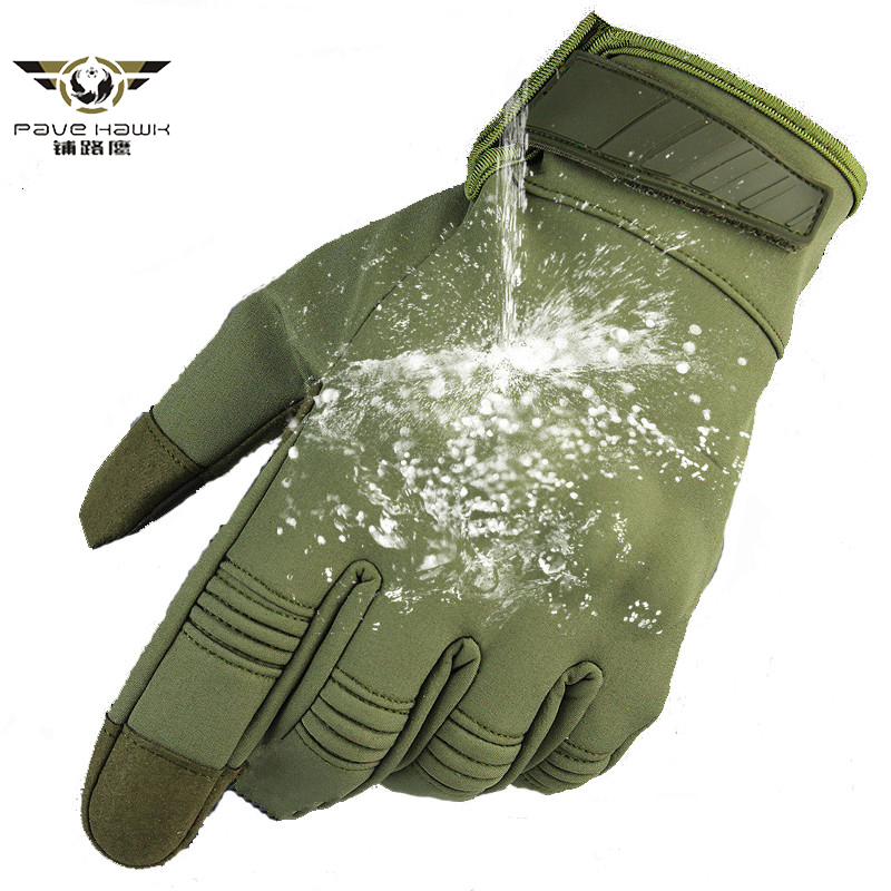 Army Combat Camouflage Waterproof Gloves Men Full Finger Tactical Gloves SWAT Soldiers Paintball Airsoft Shoot Military Gloves