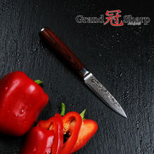 GRANDSHARP 3.5″ Inch Paring knife 67 layers Japanese Damascus Stainless Steel VG-10 Core  Christmas Gift Cooking Tools NEW
