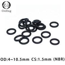 50PCS/lot Rubber Ring NBR Sealing O-Ring 1.5mm OD4/4.5/5/5.5/6/6.5/7/7.5/8/8.5/9/9.5/10/10.5mm O Ring Seal Gasket Ring Washer