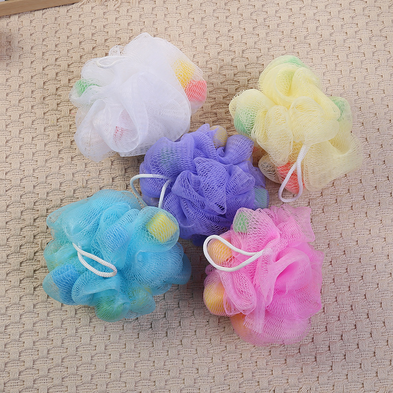 5Pcs/set Lace Bath Ball Comfortable Wipe Childrens Bath Ball Brushes Accessories Body Clean Brush Exfoliation Cleaning Equipmen ...