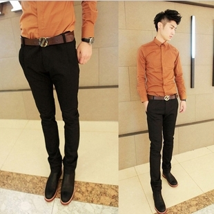 Aliexpress.com : Buy Korean style Slim Fit Fashion Trousers Men ...