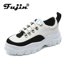 Fujin Old Shoes Women Lightweight White Dropshipping Leopard Fashion Casual Trend Color Matching