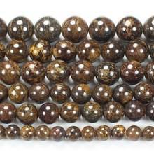 Натуральные гладкие bronizte 4 12 мм круглые бусины 15 дюймов