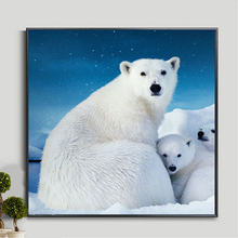 5D DIY Diamond embroidery polar bear animals Pictures Full Resin round rhinestone mosaic kit Painting cross stitch decor