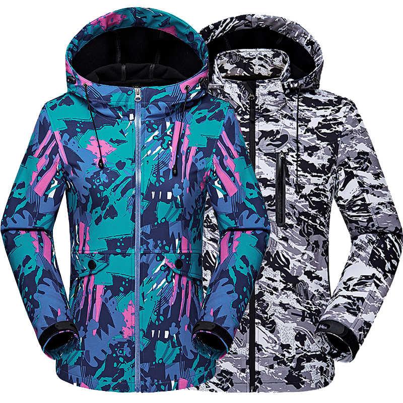 新 2019 男性女性ジャケット屋外のコート jaqueta 迷彩ソフトシェルハイキングウインドブレーカー薄型ベルベットジャケット卸売