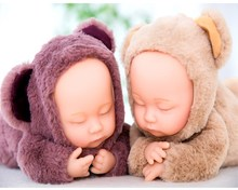 38CM Reborn Baby Rabbit Bear Plush Doll font b Toys b font For Children Silicone Reborn
