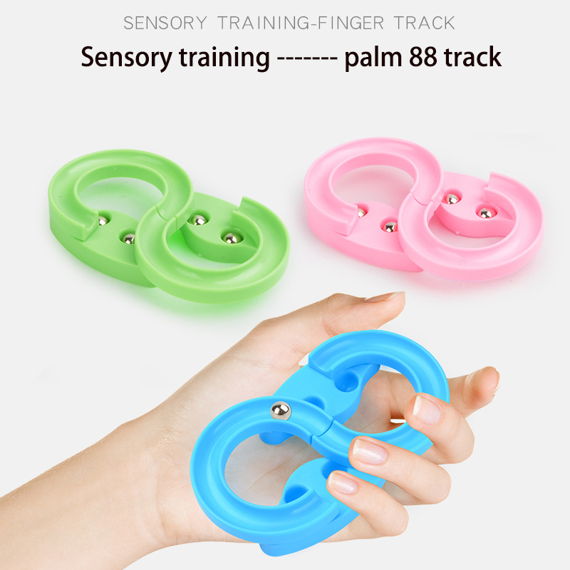 High Quality 88 Mini Track Finger Decompression Toy Children Hand Eye Coordination Training Puzzle Palm Fingertip Toy