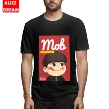 T shirt Mens Quality Milky Mob Psycho Tee Stylish Homme Shirt Pure Cotton Big Size Camiseta Birthday Gift