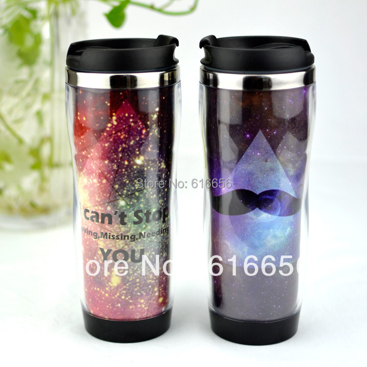 Free Shiping 420ml Curvature Travel Mug Adversing Mug